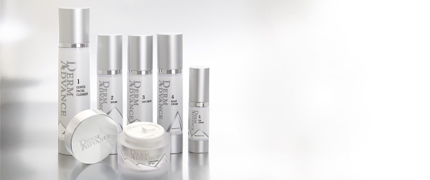 DermAdvance Complete Line of skin care products with Sunscreen